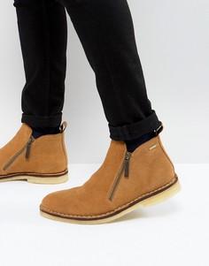 Светло-коричневые замшевые ботинки на молнии KG Kurt Geiger Otis - Светло-бежевый