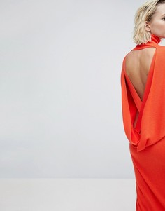 Платье с добавлением кашемира ASOS WHITE - Мульти