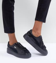 Черные кроссовки на платформе Puma - Черный