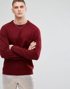 Вязаный джемпер из 100% овечьей шерсти Selected Homme - Красный