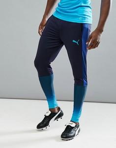 Темно-синие спортивные брюки Puma Football evoTRG Tech 65536150 - Темно-синий