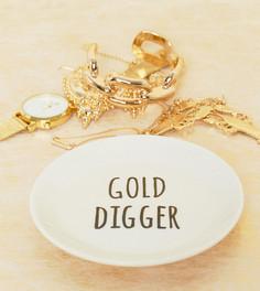 Подставка под украшения с надписью Gold Digger Sass & Belle - Мульти