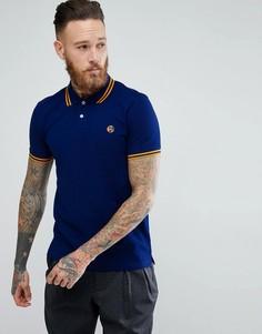 Синяя зауженная футболка-поло PS Paul Smith - Синий