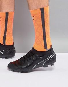 Черные футбольные бутсы Puma One 17.2 Firm Ground 10406804 - Черный