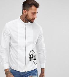 Рубашка на молнии с принтом фотографий Diesel - Белый