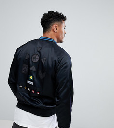 Атласная куртка с нашивками Diesel - Черный