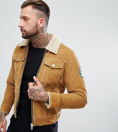 Вельветовая куртка с искусственным мехом Diesel - Бежевый