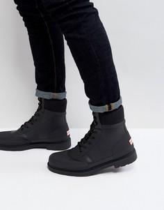 Ботинки на шнуровке Hunter Original Commando - Черный