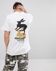 Белая футболка с принтом на спине Maharishi - Белый