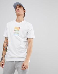 Белая футболка с принтом Maharishi - Белый