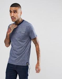 Темно-синяя меланжевая футболка с логотипом на кармане Gio Goi - Темно-синий
