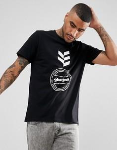 Черная футболка с логотипом Gio Goi - Черный