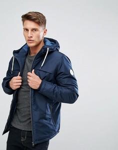 Дутая куртка с капюшоном Jack & Jones - Темно-синий