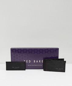 Подарочный набор из кожаных бумажника и визитницы Ted Baker - Черный
