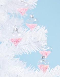 Набор розовых новогодних украшений с пайетками (12 шт.) Sass & Bell - Мульти