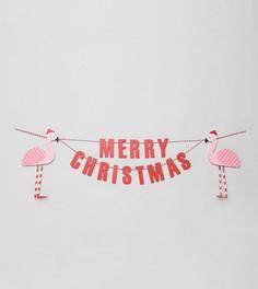 Новогоднее украшение с фламинго Sass & Belle - Мульти