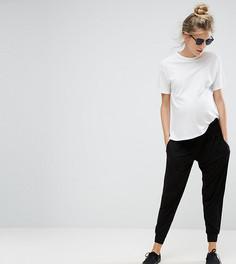 Трикотажные гаремные брюки ASOS Maternity TALL - Черный