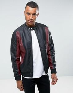 Куртка из искусственной кожи Barneys Originals - Черный