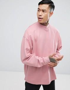 Свободный розовый свитшот ASOS - Розовый