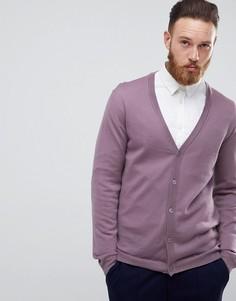 Сиреневый кардиган из мериносовой шерсти ASOS - Фиолетовый