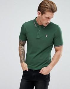 Зеленая футболка-поло с короткими рукавами Fila Vintage - Зеленый