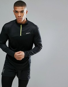 Черный свитшот с молнией 1/4 Craft Sportswear Radiate Running 1905387-999603 - Черный