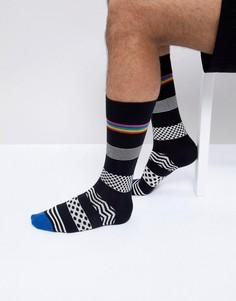 Черные носки в горошек и полоску Paul Smith - Черный