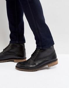 Черные кожаные ботинки Silver Street Milled - Черный