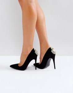 Туфли-лодочки на каблуке Boohoo - Черный