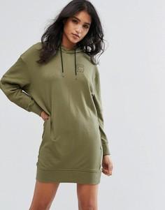 Платье-свитшот с капюшоном G-Star - Зеленый