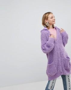 Кардиган с капюшоном Monki - Фиолетовый