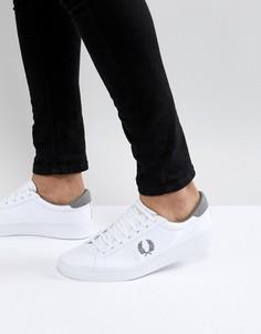 Белые парусиновые кроссовки Fred Perry - Белый