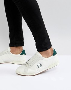 Белые замшевые кроссовки Fred Perry B7222 - Белый