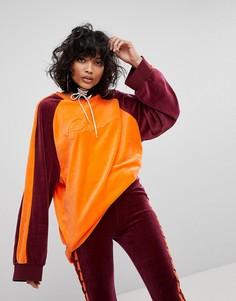 Велюровый оверсайз-пуловер с V-образным вырезом Puma X Fenty - Мульти