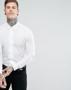 Белая рубашка с рюшами Devils Advocate - Белый