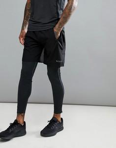 Черные спортивные шорты скинни Nicce London - Черный