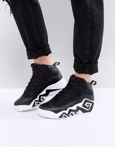 Черные высокие сетчатые кроссовки Fila Mb - Черный