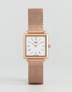 Часы с квадратным циферблатом и сетчатым ремешком Henry London - 26 мм - Золотой
