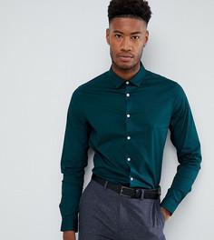 Сине-зеленая приталенная рубашка ASOS TALL - Зеленый