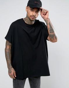 Черная футболка оверсайз ASOS - Черный