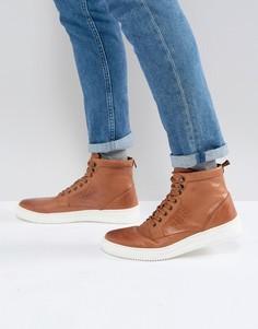 Светло-коричневые кожаные ботинки с белой подошвой ASOS - Рыжий