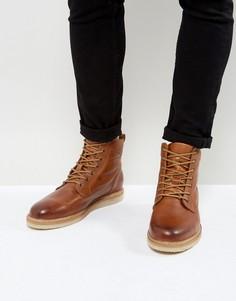 Кожаные ботинки на шнуровке Zign - Коричневый