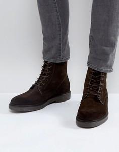 Замшевые ботинки на шнуровке Zign - Коричневый