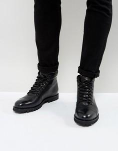 Походные кожаные ботинки Zign - Черный
