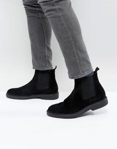 Замшевые ботинки челси на массивной подошве Zign - Черный
