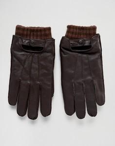 Кожаные перчатки Boardmans - Коричневый
