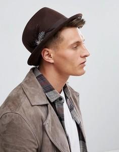Фетровая шляпа Boardmans Carson - Коричневый