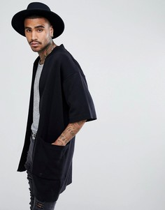 Черная легкая куртка с короткими рукавами ASOS - Черный