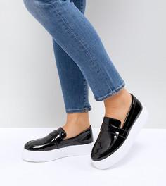 Кроссовки-слипоны для широкой стопы ASOS - Черный