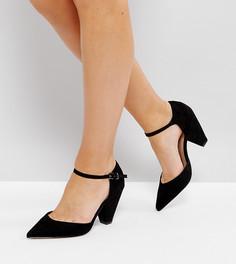Туфли на каблуке для широкой стопы ASOS SPEAKER - Черный